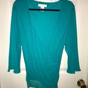 Newport News - Vintage Silk Teal Shirt